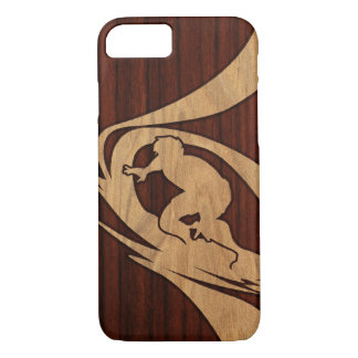 Kewalos Hawaiian Surfer Koa Faux Wood iPhone 8/7 Case