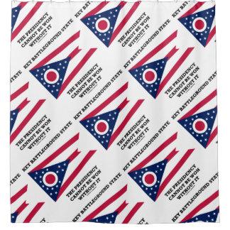 Key Battleground State Presidency Ohio State Flag Shower Curtain