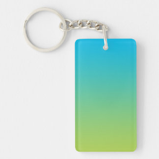 Key Chain: BLUE GREEN OMBRE Key Ring