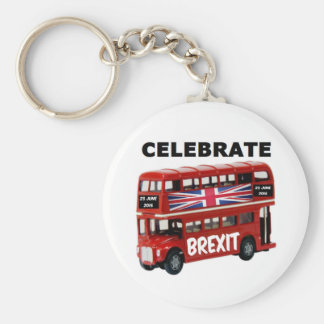 Key Chain Celebrate Brexit Bus
