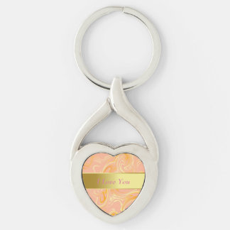 Key Chain--Celebration Silver-Colored Twisted Heart Key Ring