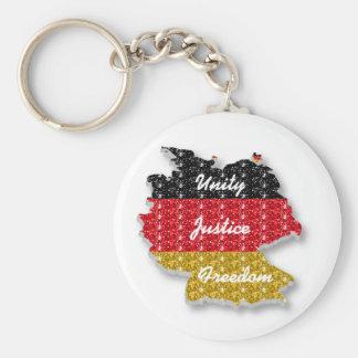 Key Chain German Flag Unity Justice Freedom