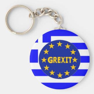 Key Chain Greek Flag EU Grexit