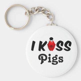 Key Chain I Kiss Pigs