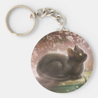 Key Chain - Magic Black Cat