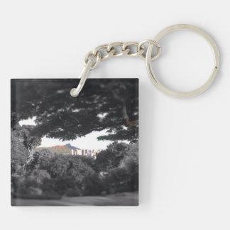Key Chain: Oahu Diamond Head and Sunset