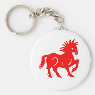 Key Chain: Red Horse Chinese Zodiac Key Ring