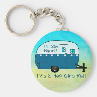 KEY CHAIN | Retro Camper Textured