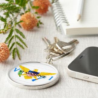 KEY CHAIN,VI MASSIVE Silver-Colored ROUND KEY RING