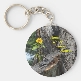 key chain with bloom where you're planted