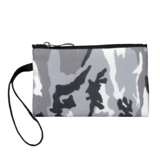 Key Clutch Urban Camo Gray Change Purse