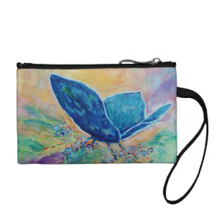 Key Coin Clutch - Colorful Watercolor Butterfly Coin Wallets