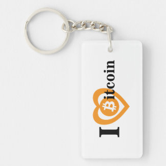 Key dial with in love bitcoin key ring