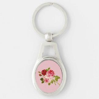 Key holder of three roses key ring