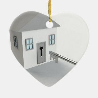 Key Home, Real Estate Agent, Selling Ceramic Heart Decoration