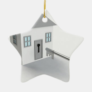 Key Home, Real Estate Agent, Selling Ceramic Ornament