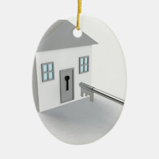 Key Home, Real Estate Agent, Selling Ceramic Oval Decoration