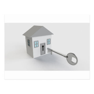 Key Home, Real Estate Agent, Selling Postcard