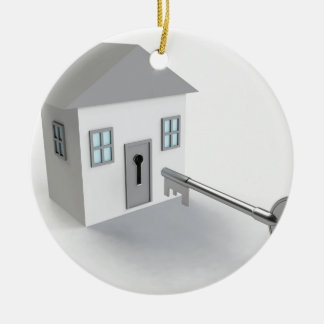 Key Home, Real Estate Agent, Selling Round Ceramic Decoration