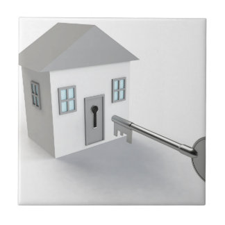 Key Home, Real Estate Agent, Selling Small Square Tile