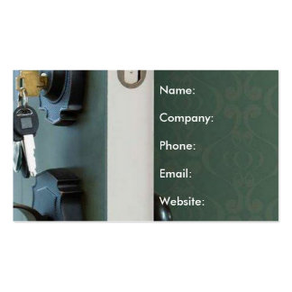 Key in Door Open House Real Estate Business Card