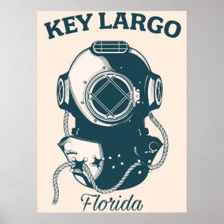 Key Largo Florida holiday poster