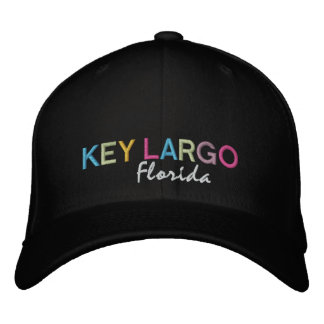 Key Largo Florida MultiColor Hat Embroidered Hat