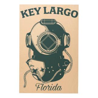 Key Largo Florida Nautical Diving travel poster