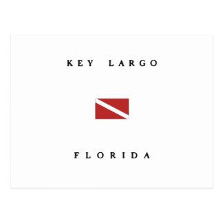 Key Largo Florida Scuba Dive Flag Postcard