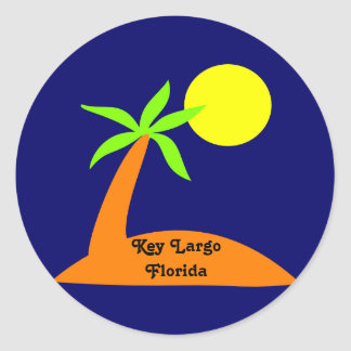 Key Largo, Florida tropical sticker