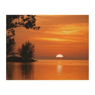 Key Largo Sunset Wood Wall Art