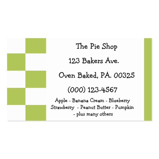 Key Lime Pie Colors Business Card