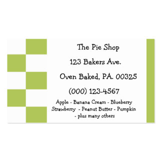 Key Lime Pie Colors Pack Of Standard Business Cards