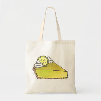 Key Lime Pie Green Keylime Slice Tote Bag