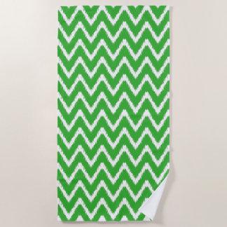 Key Lime Southern Cottage Chevrons Beach Towel