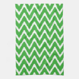 Key Lime Southern Cottage Chevrons Tea Towel