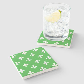 Key Lime Southern Cottage Fleur de Lys Stone Coaster