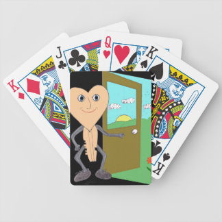 Key Opens a Door to Better Life Bicycle Playing Cards