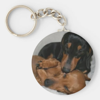Key ring Basic Button teckels Basic Round Button Key Ring