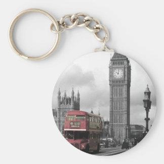 """Key ring """"Big Ben """" Basic Round Button Key Ring"""