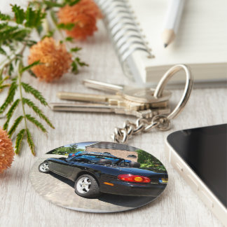 Key-ring black NB 1999 Basic Round Button Key Ring