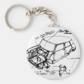 key ring classic mini outline basic round button key ring