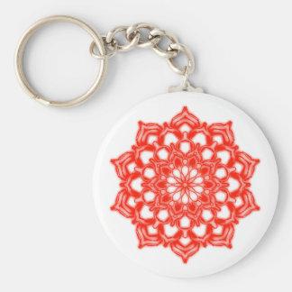 Key-ring Fleur Mandala Chakra red Key Ring