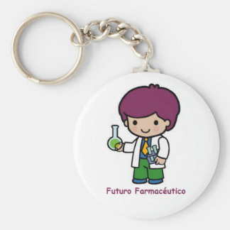 Key ring of pharmaceutical future basic round button key ring