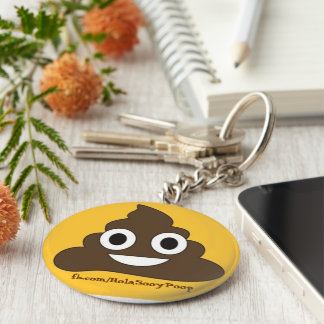 Key ring: poop: key chain