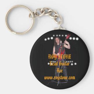 KEY RING, ROY STONE Lead Guitar Ace  ... Basic Round Button Key Ring