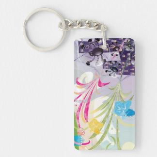 Key Ring - Spiders & Butterflies Vector Design Rectangular Acrylic Key Chain