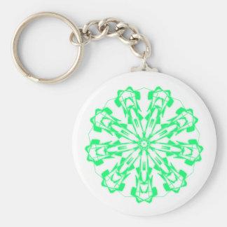 Key-ring Sweet Pastel Fractal Mandala 1 Key Ring