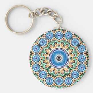 Key-ring with mosaic basic round button key ring