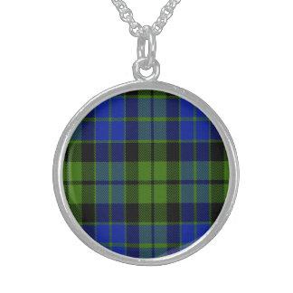 Key Scottish Tartan Sterling Silver Necklace
